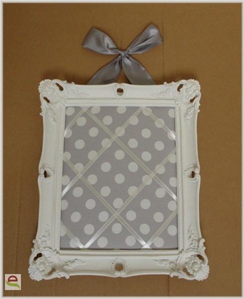 memoboard pinnwand weiss silber im landhausstil elcodec decorate your life. Black Bedroom Furniture Sets. Home Design Ideas