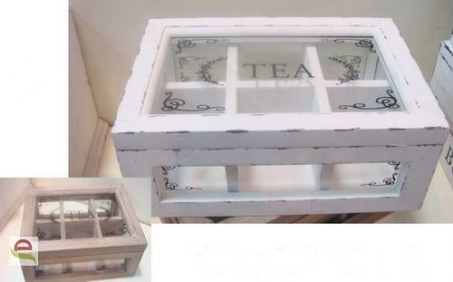 Teebox weiß mit Verzierung im Shabby Chick-Look - elcodec - decorate ...